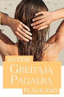 Greita pagalba plaukams