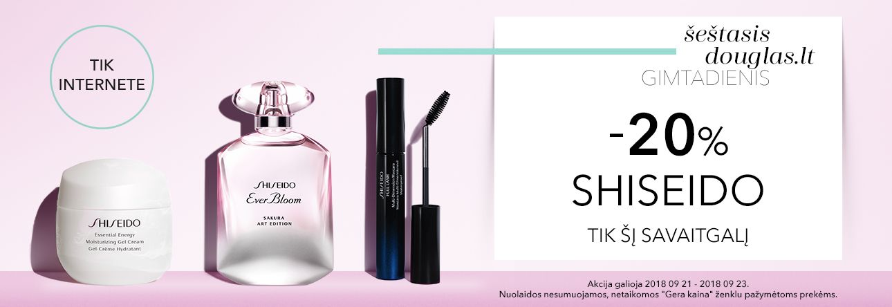 Shiseido gimtadienio nuolaida