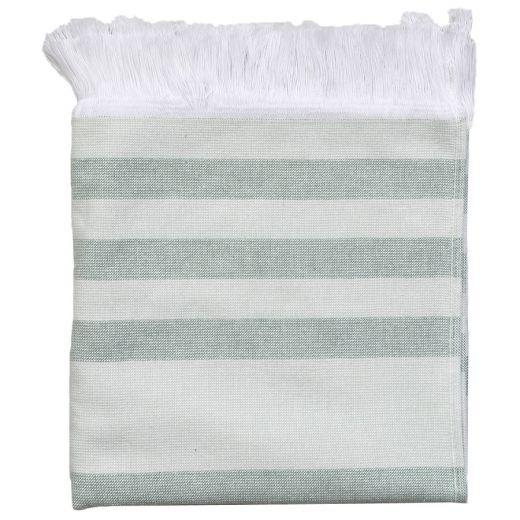 Hamam Towel Green Stripes