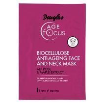 Stangrinamoji bioceliuliozinė kaukė veidui ir kaklui Douglas Age Focus