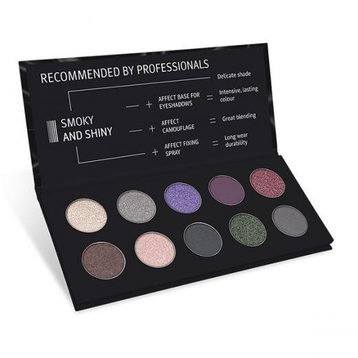 Smoky And Shiny Pressed Eyeshadows Palette