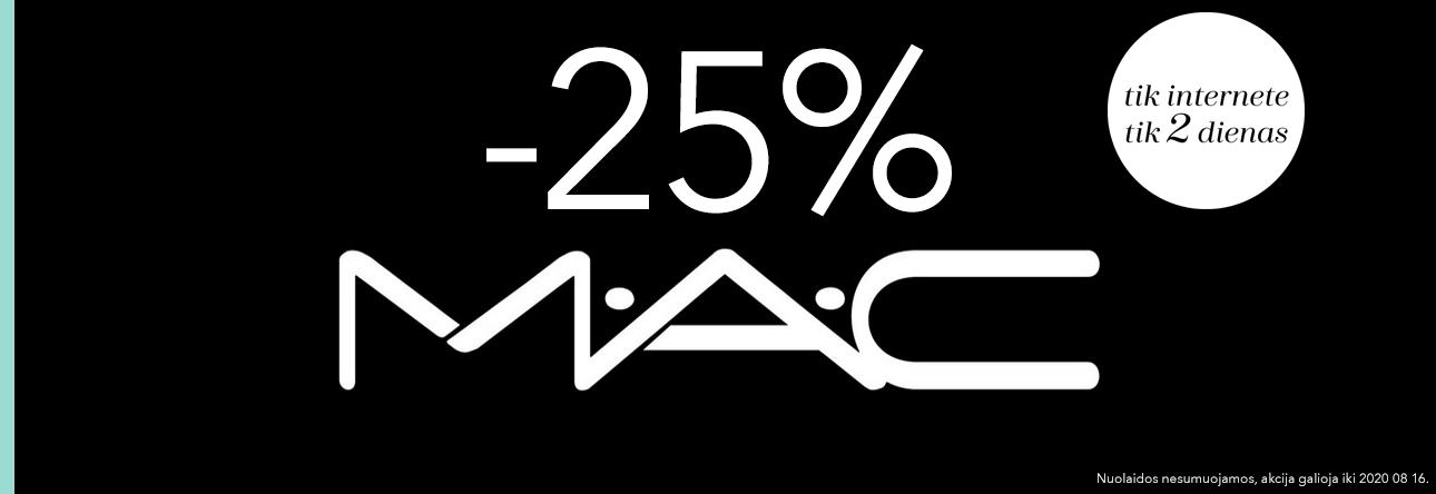 -25% MAC tik internete