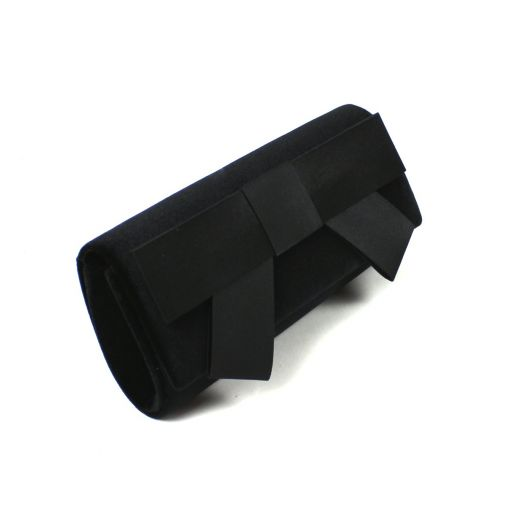 Satin Clutch With Bow