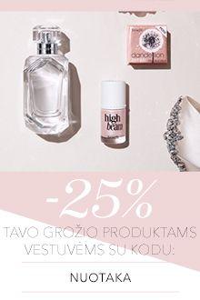 -25% tavo vestuvių produktams