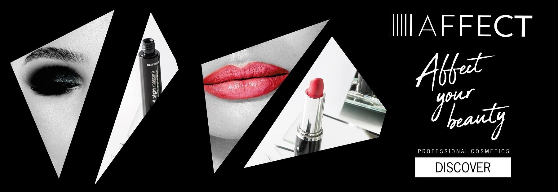 Affect profesionalios dekoratyvinės kosmetikos vizualas