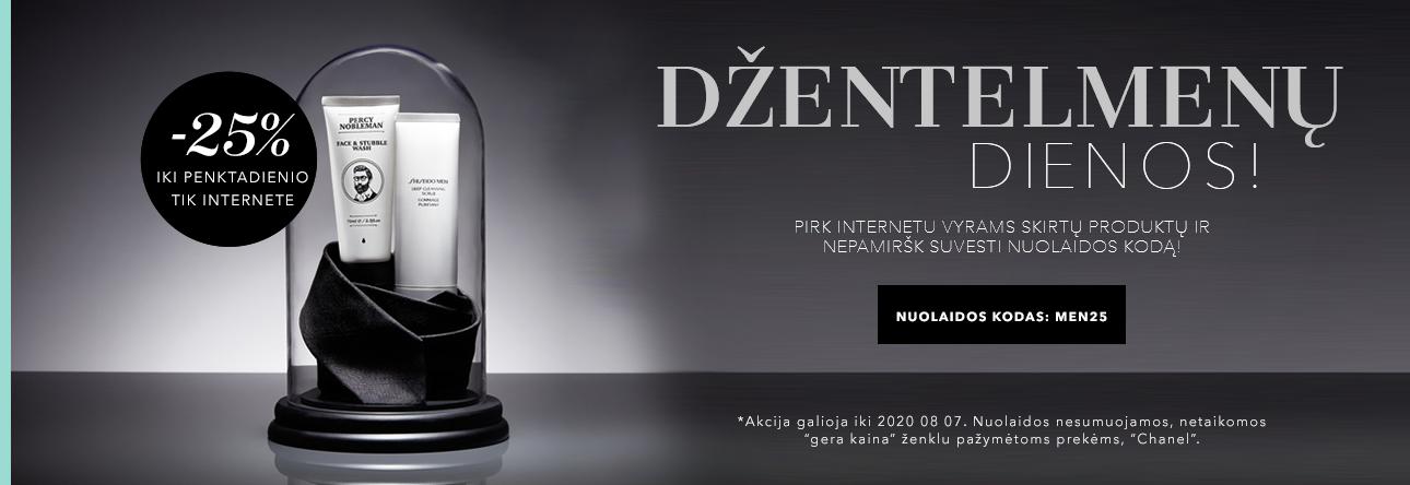 -25% vyrų prekėms tik internete su kodu: MEN25