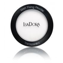 Fiksuojamoji matinė kompaktinė pudra Isadora