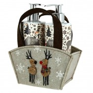 Cream Soap & Hand Lotion Winter Deer Set