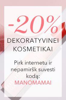 -20% DEKORATYVINEI kosmetikai online