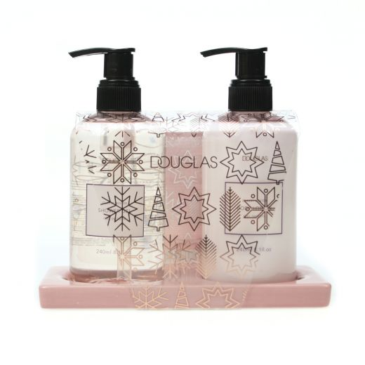 Classy Winter Shower Set With Ceramic Tray
