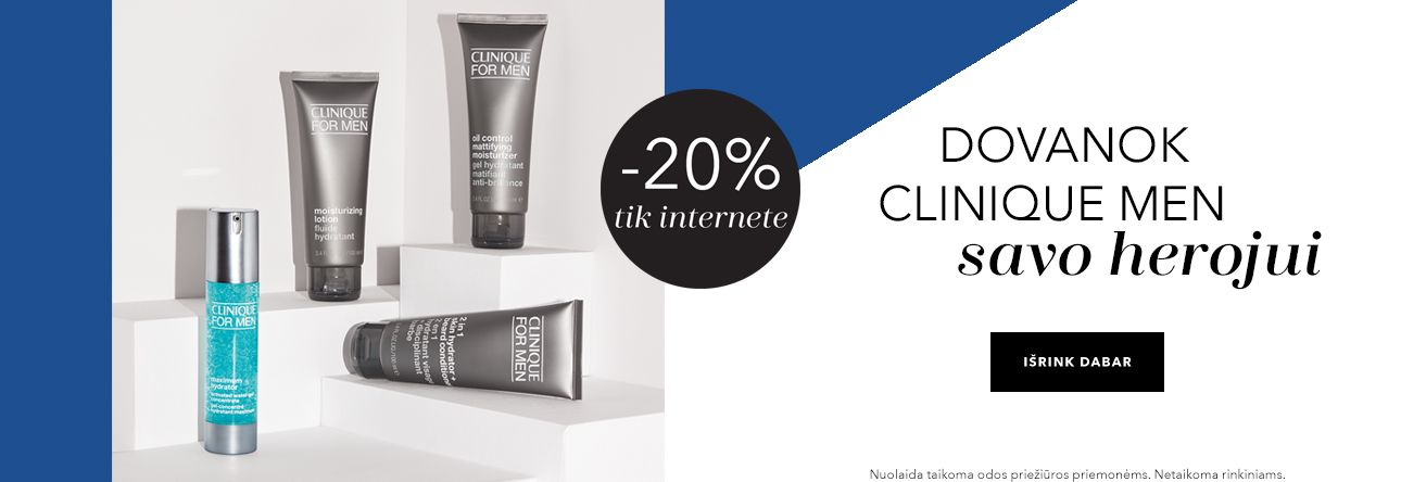 -20% CLINIQUE MEN tik internete
