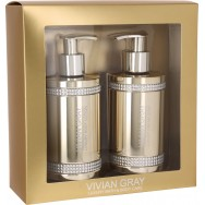 Gold Crystals Cream Soap & Body Lotion Set