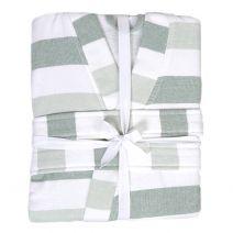 Hamam Kimono Green Stripes S/M