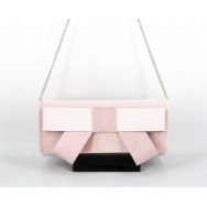 Satin Rose Clutch With Bow