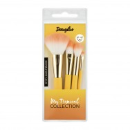 My Tropical Collection 4 Make Up Brushes Kit