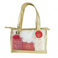 Magical Winter Bath Set With Clear Hand Bag