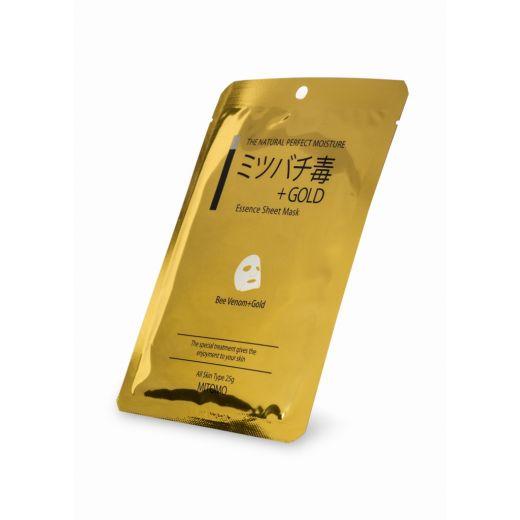 Veido kaukė su auksu ir bičių nuodais Mitomo