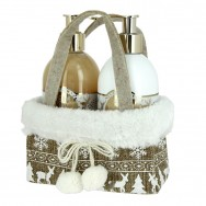 Cream Soap & Hand Lotion Golden Winter Set