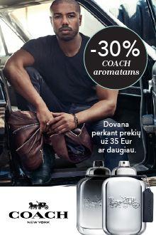 -30% COACH ir dovana