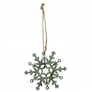 Wooden Christmas Flake Decoration