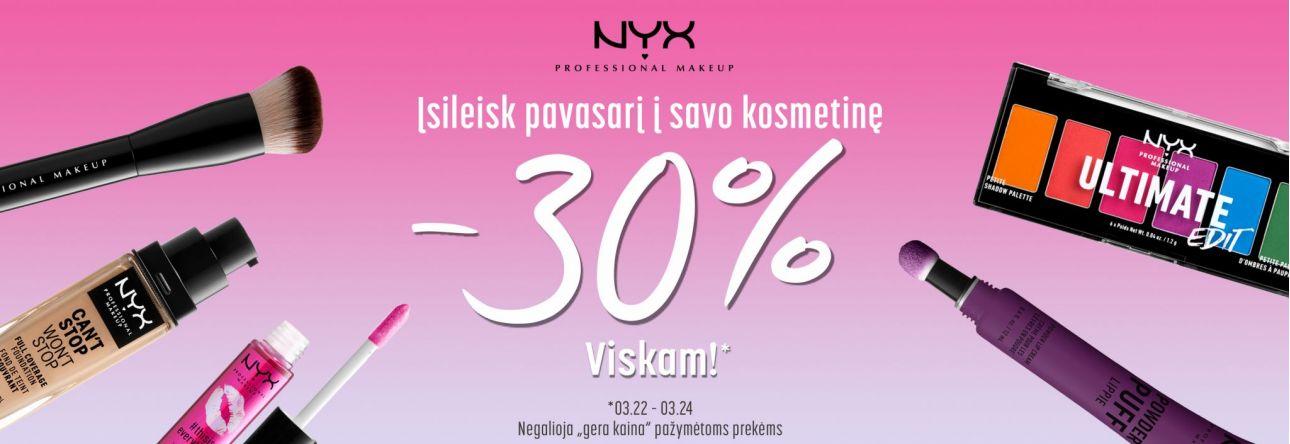 -30% NYX savaitgalis