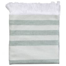 Hamam Towel Green Stripes