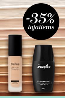 -35% DOUGLAS makiažo pagrindams su DOUGLAS kortele