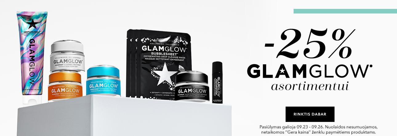 -25% Glam Glow asortimentui