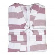 Hamam Kimono Rose Stripes S/M