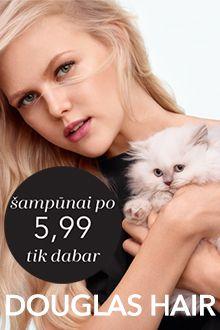 DOUGLAS šampūnai ypatinga kaina
