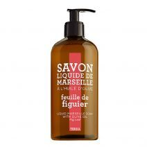 Terra Figuier Liquid Marseille Soap With Olive Oil Fig Leaf