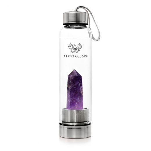 Amethyst Bottle - Silver