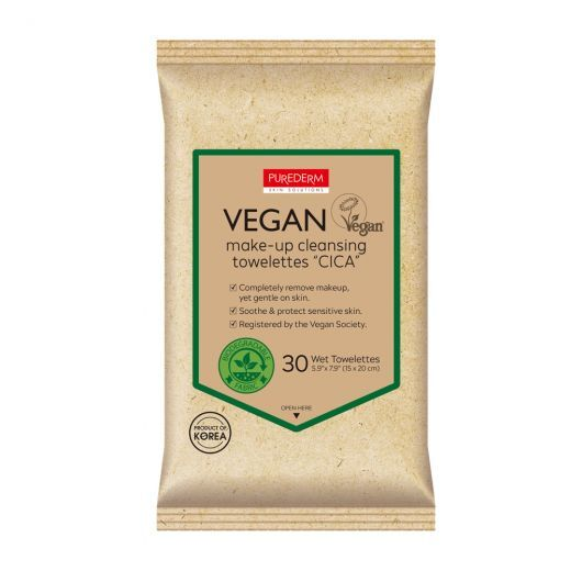Vegan Make-Up Cleansing Towelettes Cica