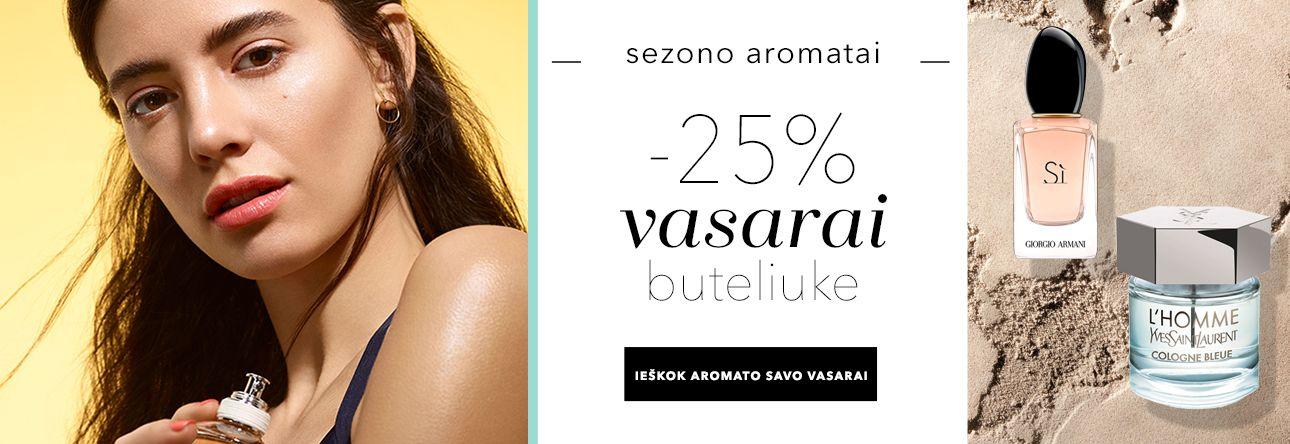 -25% vasaros aromatams