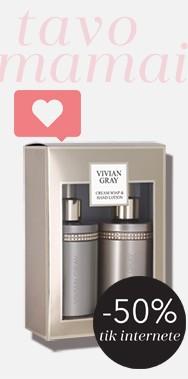VIVIAN GRAY Brown Crystals Cream Soap & Hand Lotion Set