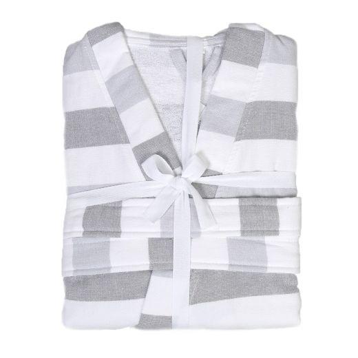 Hamam Kimono Grey Stripes S/M