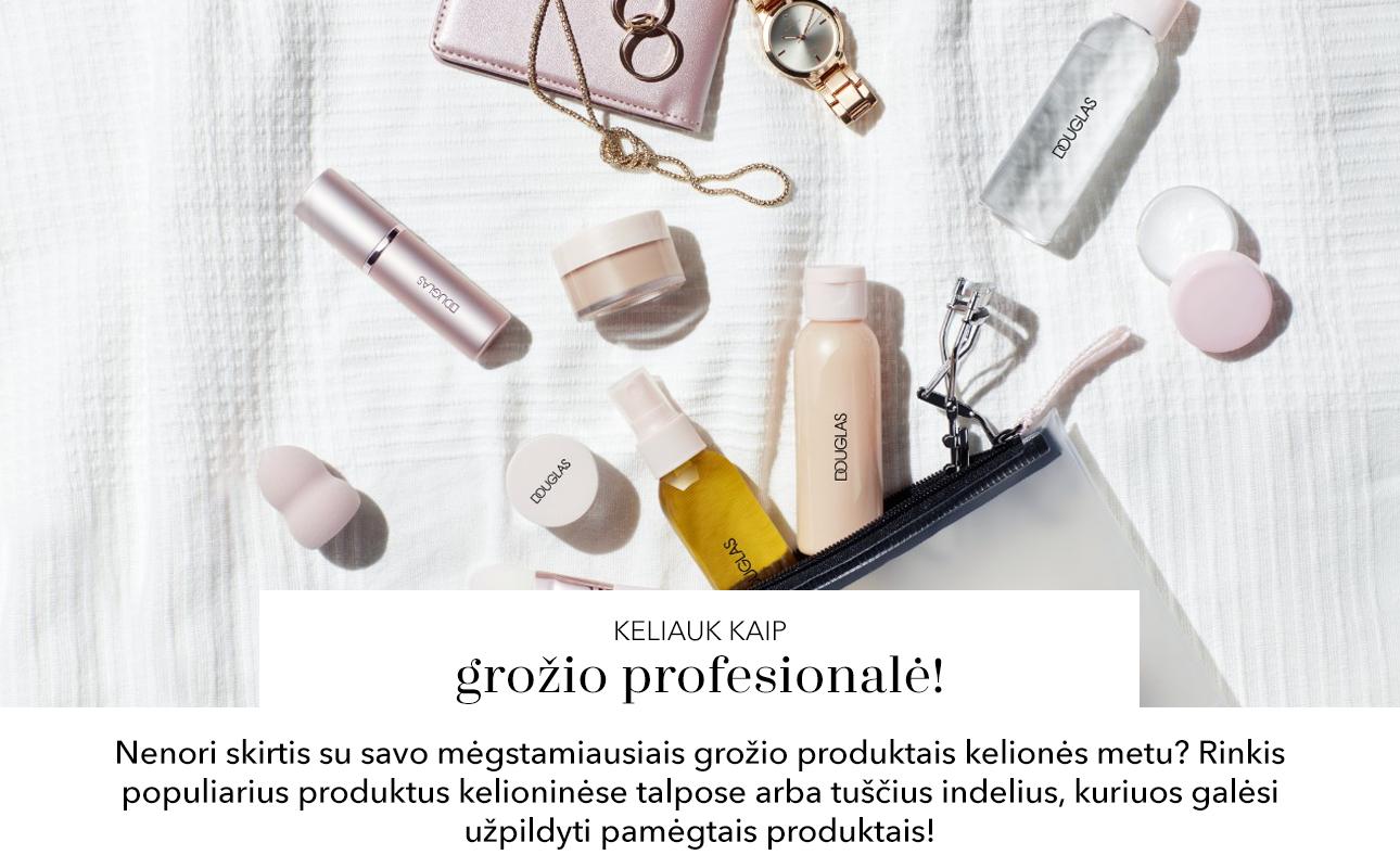 Nenori skirtis su savo mėgstamiausiais grožio produktais kelionės metu? Rinkis populiarius produktus kelioninėse talpose arba tuščius indelius, kuriuos galėsi užpildyti pamėgtais produktais!