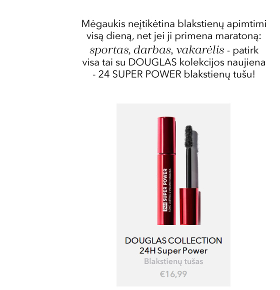 24H SUPER POWER MASCARA | DOUGLAS | blakstienų tušas
