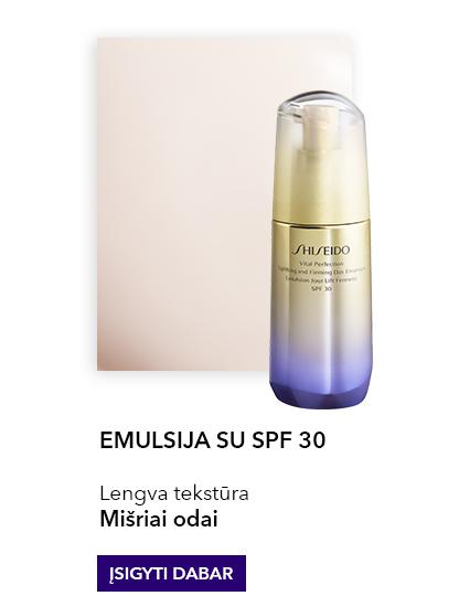 SHISEIDO Vital Perfection Uplifting And Firming Day Emulsion SPF30 Stangrinamoji veido emulsija